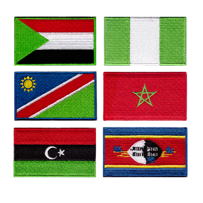 Free shipping national flag countries Badge Multi designs badges flags for clothing custom badge Suitable for all kinds of cloth in Patches from Home Garden