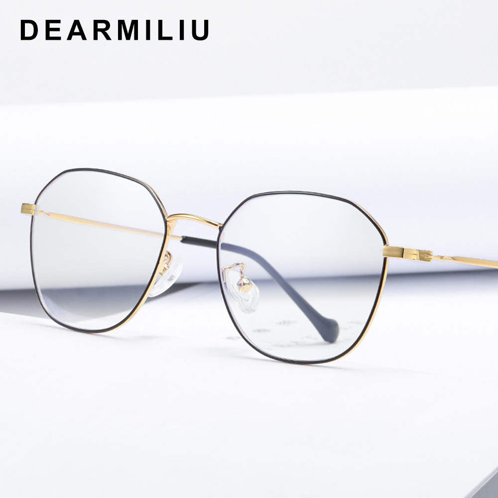 Dearmiliu Rose Gold Anti Blue Light Blocking Glasses Oval Frame Led Computer Reading Glasses Radiation-resistant Gaming Eyewear Promoting Health And Curing Diseases