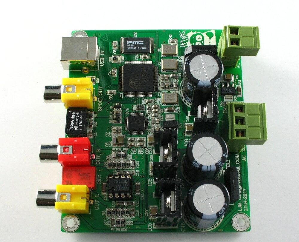 Assembleld 32BIT384K/USB DAC CM6631A + AKM4490 carte DAC 32bit \ 384 K DAC