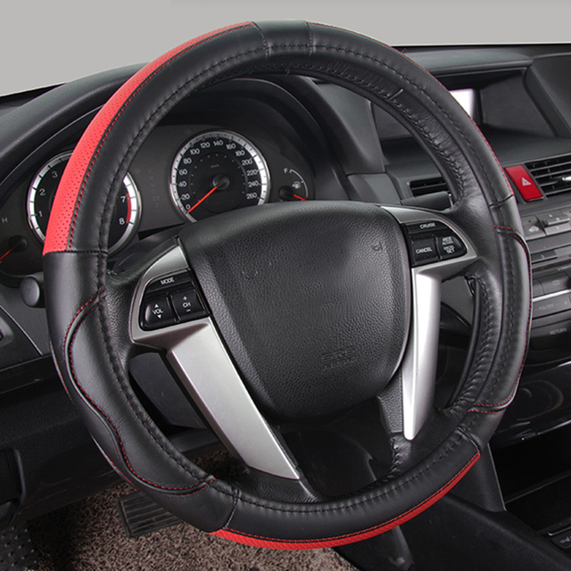 Car Steering Wheel Cover Leather Universal  fit for Nissan Qashqai Patrol Murano Sunny X-Trail Quest Fuga Cefiro Cima Car Parts