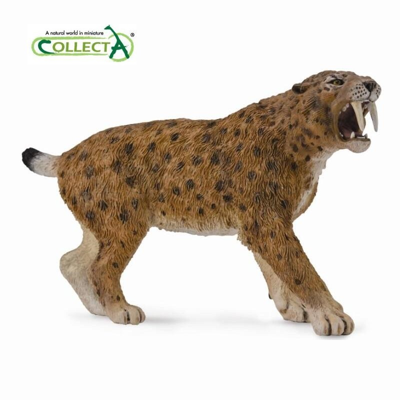 Smilodon saber-toothed tiger Classic Toys For Boys Animal Model 88715