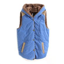 Women Waistcoats Jacket Hooded Thick Cotton Coat Warm Velvet Sleeveless Vests Female Plus Size