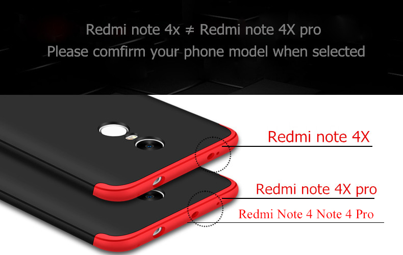 Bakeey 3 In1 Shockproof 360 Degree Full Body Protective Case For Xiaomi Redmi Note 4