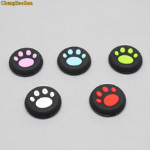 2 Pcs Durable Silicone Non-slip Cat Paw  Stick Grips Cover For PS4 PS3 XBOX ONE/360 Controller Controller Joystick Caps