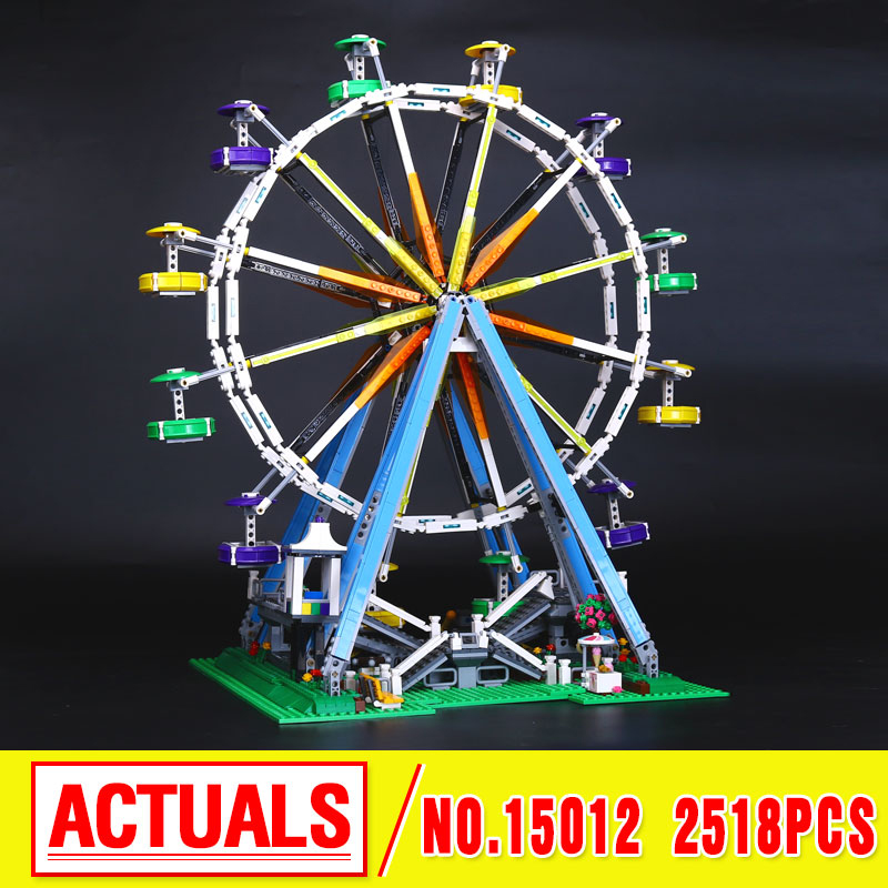LEPIN 15012 City  Expert Ferris Wheel Model Building Kits  Assembling Block Bricks Compatible  10247 Educational Funny Toy boys lepin 15009 city street pet shop model building kid blocks bricks assembling toys compatible 10218 educational toy funny gift