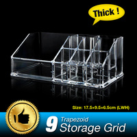 9 Grids Trapezoid Cosmetic Makeup Case Lipstick Display Stand Skin Care Thicken Clear Acrylic Organizer Storage