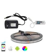Светодиодные ленты набор IP65 Водонепроницаемый 3528 цветная (RGB) Светодиодная лента 5 м 300 светодиодный гибкие полосы света + Приложение Управле...