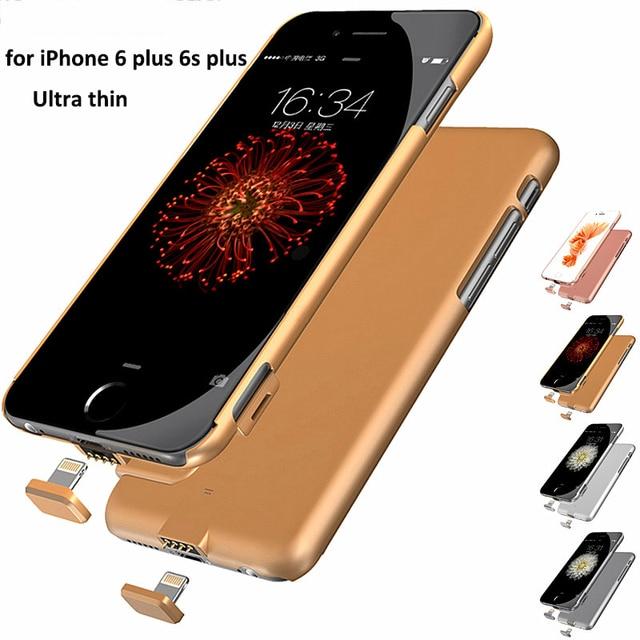 Настоящее 2000 мАч Ультра-Тонкий Крышка Батарейного Отсека Зарядное Устройство для iPhone 6 Plus Аккумуляторная Мощность Дело Внешнего Резервного с Вилкой