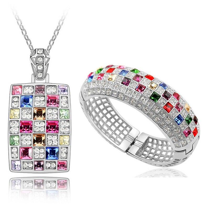Ensemble de bijoux africains ensembles de bijoux en or ensembles de bijoux de mariée en cristal collier en or bangel pour dame ensemble de bijoux de mariage