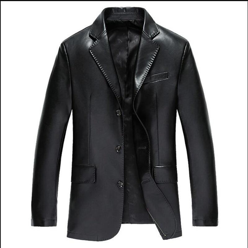 Popular Men Blue Leather Suit Jacket-Buy Cheap Men Blue Leather