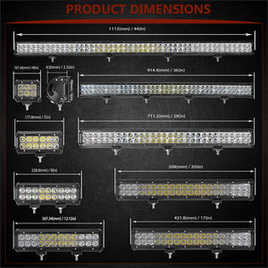 "Image 3 - 4"" 7"" 9"" 12"" 17 20 28 36 44 inch Off Road LED Light Bar Spot Flood Combo Beam 72W 126W 12V 24V LED Work Lamp for 4x4 UTV ATV SUV"