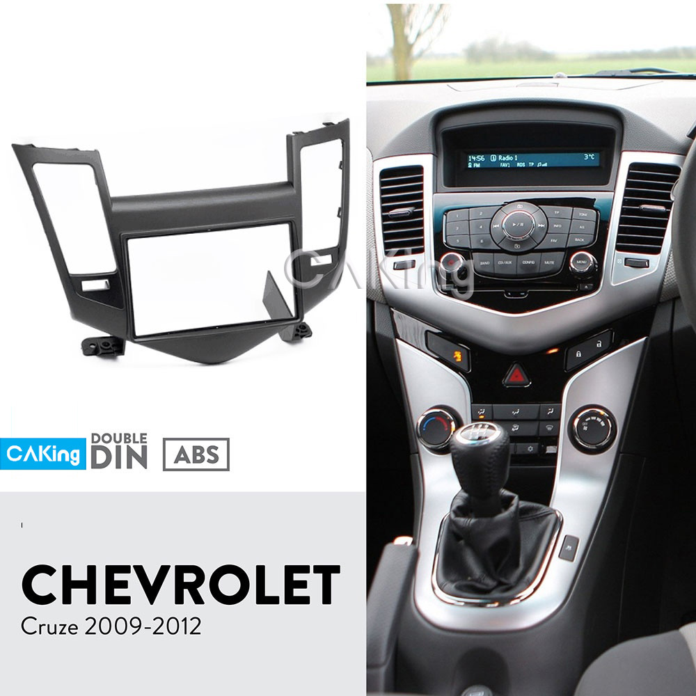 Car Fascia Radio Panel for CHEVROLET Cruze 2009 Black Audio Frame Dash Fitting Kit Facia Face
