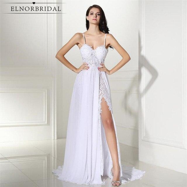Robe De Mariage Beach Lace Wedding Dress Cheap 2017 Split Backless A ...