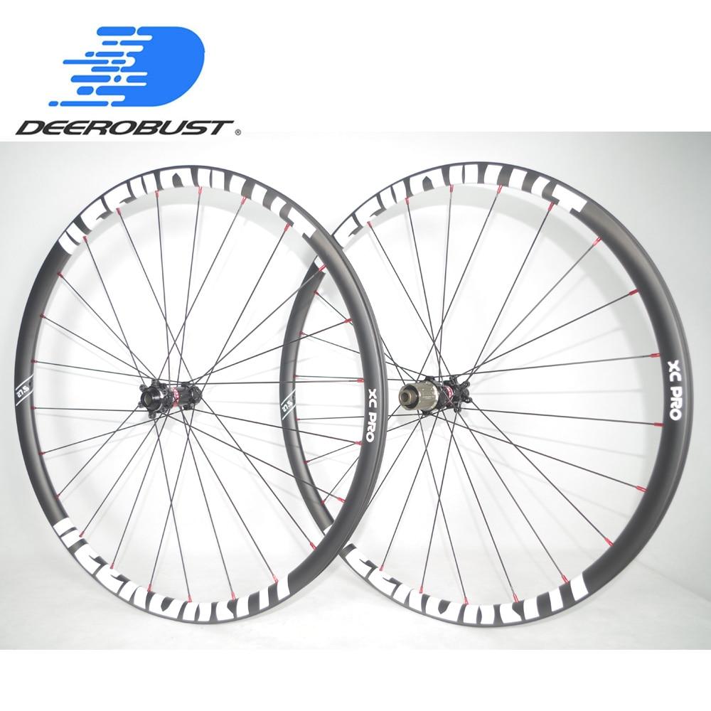 1120g Lightest  27.5er Carbon MTB XC Wheels 24mm x 24mm 650B Tubeless Clincher Hookless Mountain Bike Wheel set 24 28 Holes