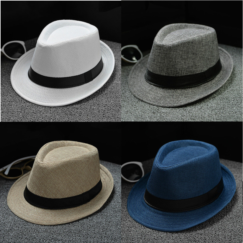 e18e6f9fd58ee9 2019 Fashion Summer Cool Panama Wide Brim Fedora Straw Made Indiana Jones  Style Caps Hat Women Men Summer-in Men's Fedoras from Apparel Accessories  on ...
