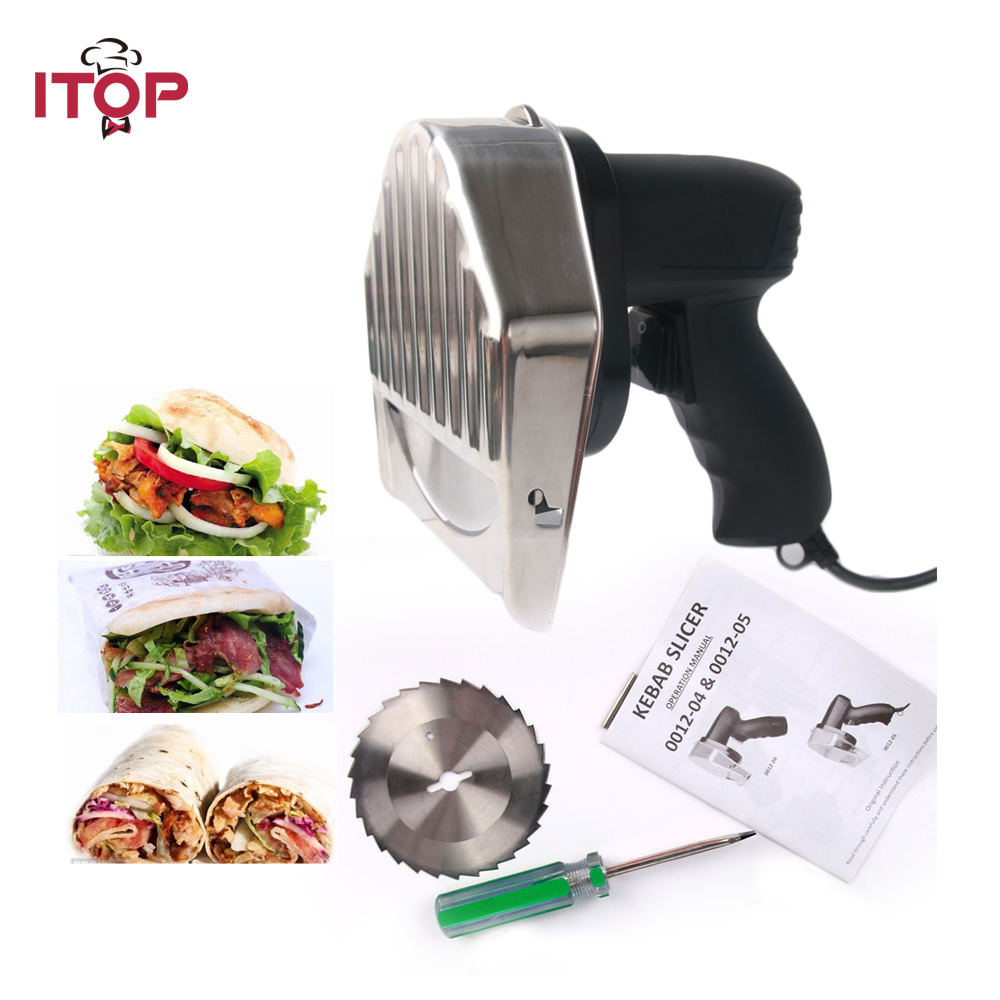 Kebab Cutter Doner Kebab Knife Slicer Electric Shawarma and Gyros Cutter 0012-05 itop automatic professional and comerical powerful electric doner kebab slicer for shawarma kebab knife gyros knife
