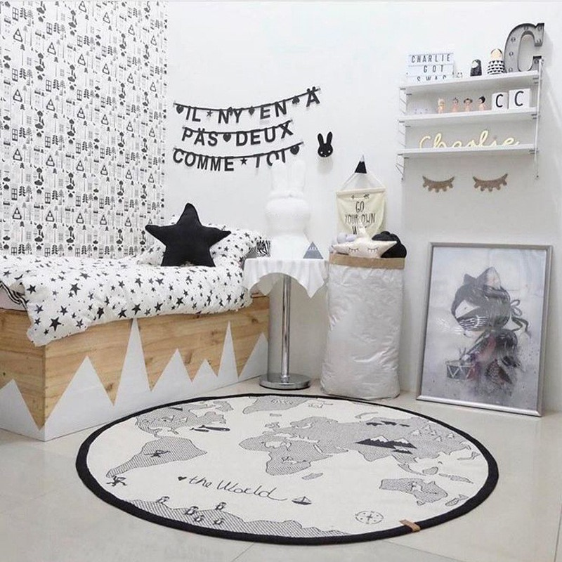 2019 New Cotton Baby Play Mats Baby Carpet Children's Game Mats Skin-friendly Child Crawl Roll Carpets Soft Kids Exercise Rugs