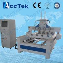AKM1325 high speed 4 axis  4 rotary head wood cylinder  cnc machine