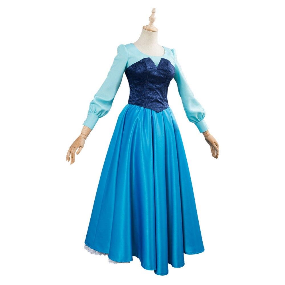 A pequena sereia traje cosplay vestido adulto