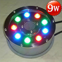 4X 9W LED RGB Color Changing Fountain Pool Pond Light Landscape Lamp AC 12V IP68