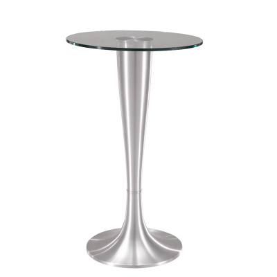 Simple modern toughened glass round bar table living room home leisure fashion high round table living room high foot small bar table toughened glass bars table fashion household coffee bar table