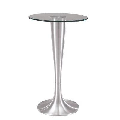Simple moderne verre trempé table ronde bar salon maison loisirs mode haute table ronde