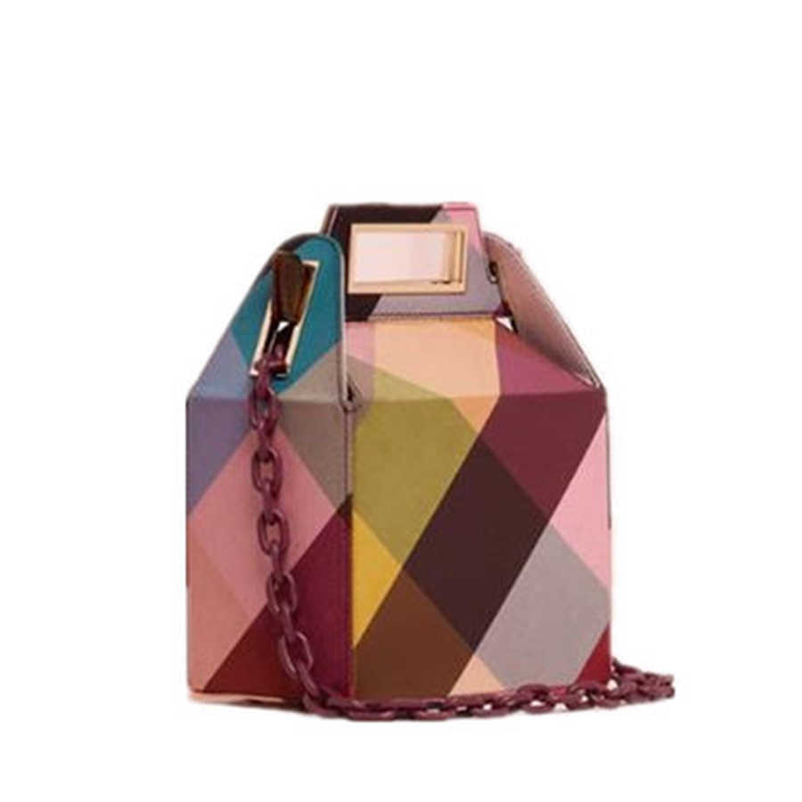 553393115f98 Luxury Brand Printing Acrylic Handbags Women Acrylic Chain Shoulder Bag  Evening Bag Party Handbag Designer Box