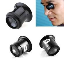 Monokularowy lupa 5X 10X przenośny lupa jubiler zegarek szkło powiększające oko lupa Len naprawa zestaw narzędzi tanie tanio Inpelanyu Styl noszenia N1200-01 Brak Z tworzywa sztucznego 3 6 x3 cm 10x 5X Loupe Lens Eye Magnifier Platic and Glass