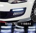 Бесплатная доставка Новый 2 ШТ. Super White 8 СВЕТОДИОДОВ Универсальная Автомобильная Свет Дневных Ходовых авто лампы ДРЛ