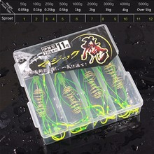 FDDL 4pcs Fluorescent Fishing Explosion Hooks Pack Fishing Tackle Super Deal High Carbon Steel Sharp Capture Fishhooks with Box