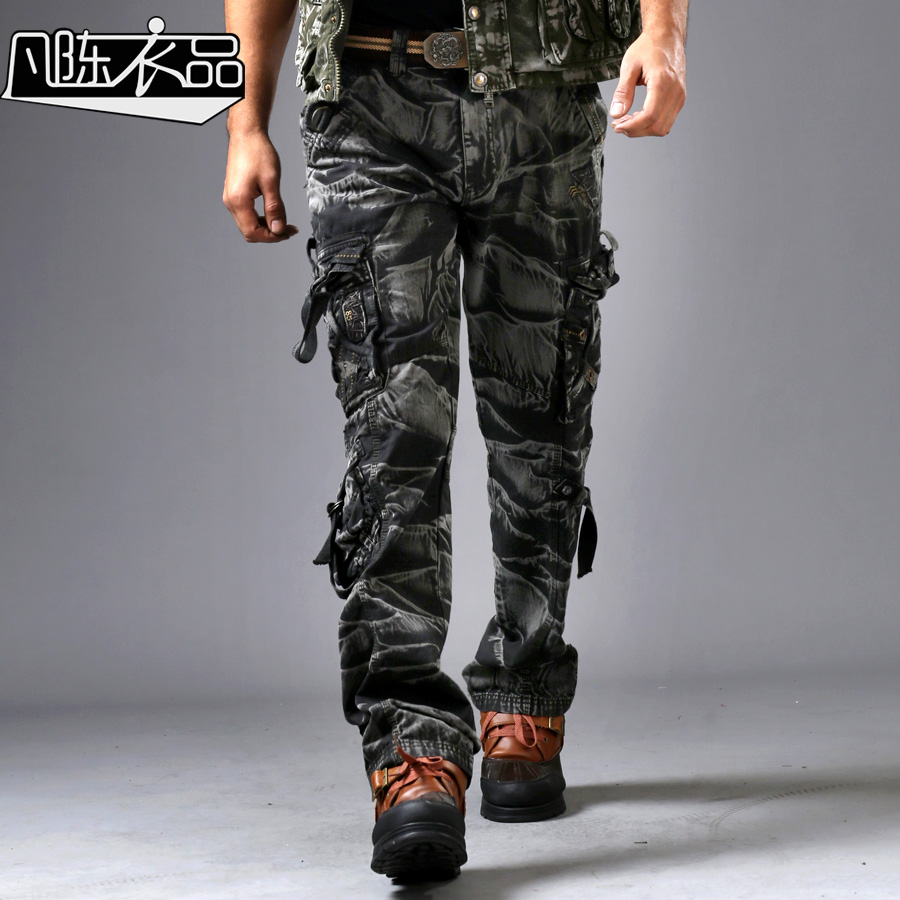Real Man Fashion Uniform Pants Mens Loose 3D Casual Leisure ...