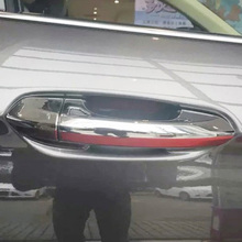 Free Shipping High Quality ABS Chrome Door Handles Cover Protect Handle Bowl For 2015-2017 Ford EDGE
