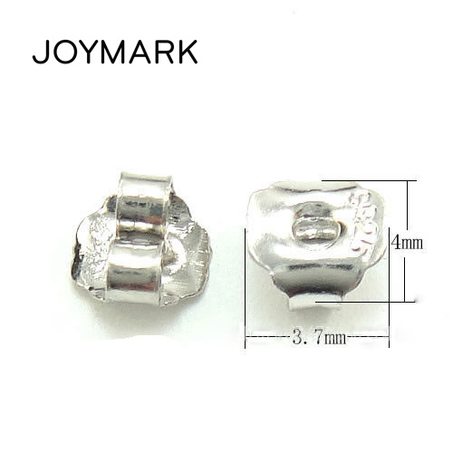 Wholesale 100 pairs/lot 4*3.7mm 925 Sterling Silver Stud Earring Backs Stopper Ear Nuts Jewelry Findings Components SEA EB001-in Jewelry Findings & Components from Jewelry & Accessories    1