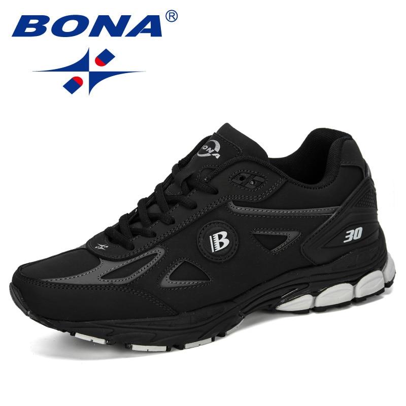 BONA 2019 Men Running Shoes Trainers Outdoor Baskets Homme Zapatos Corrientes Verano Chaussures De Course Pour
