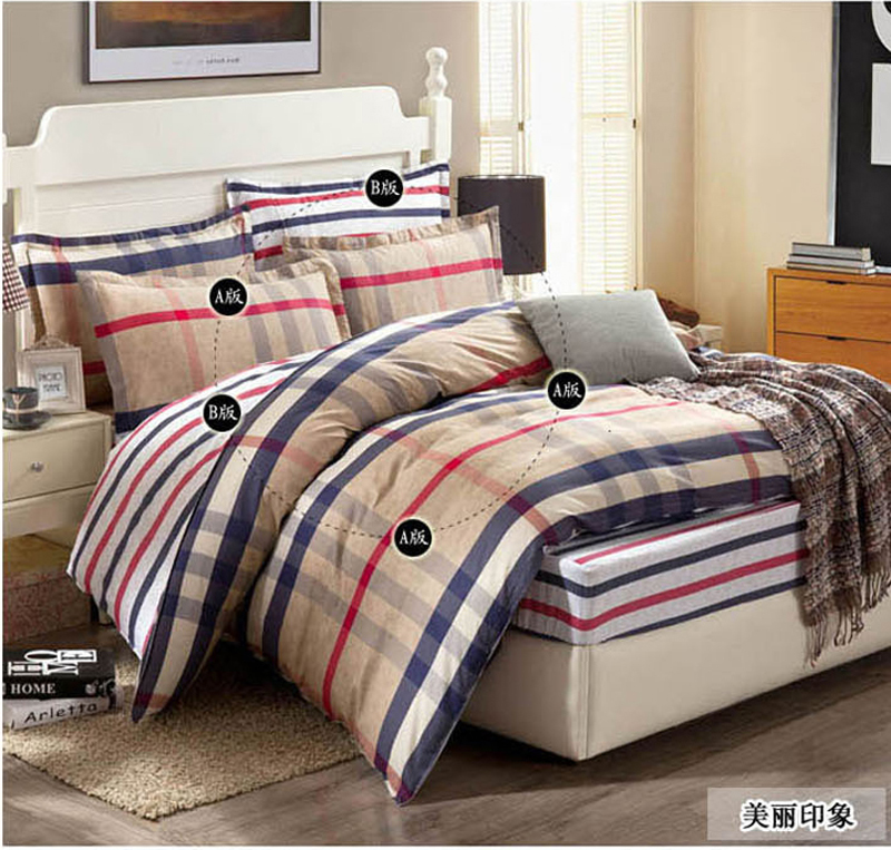 fashion printing queen king twin full size bedding sets cotton fitted sheets mattress cover 4pcs. Black Bedroom Furniture Sets. Home Design Ideas