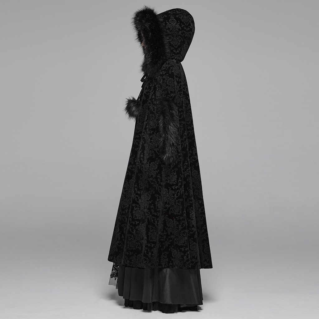Шикарный женский плащ в стиле панк, готический стиль, викторианский Корт, накидка, скульптура, широта, ткань, для сцены, женские зимние куртки