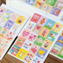 4 pcs/pack Stamp Kids Decorative Stickers DIY Decoration Diary Album Label Sticker Stationery Children Gift