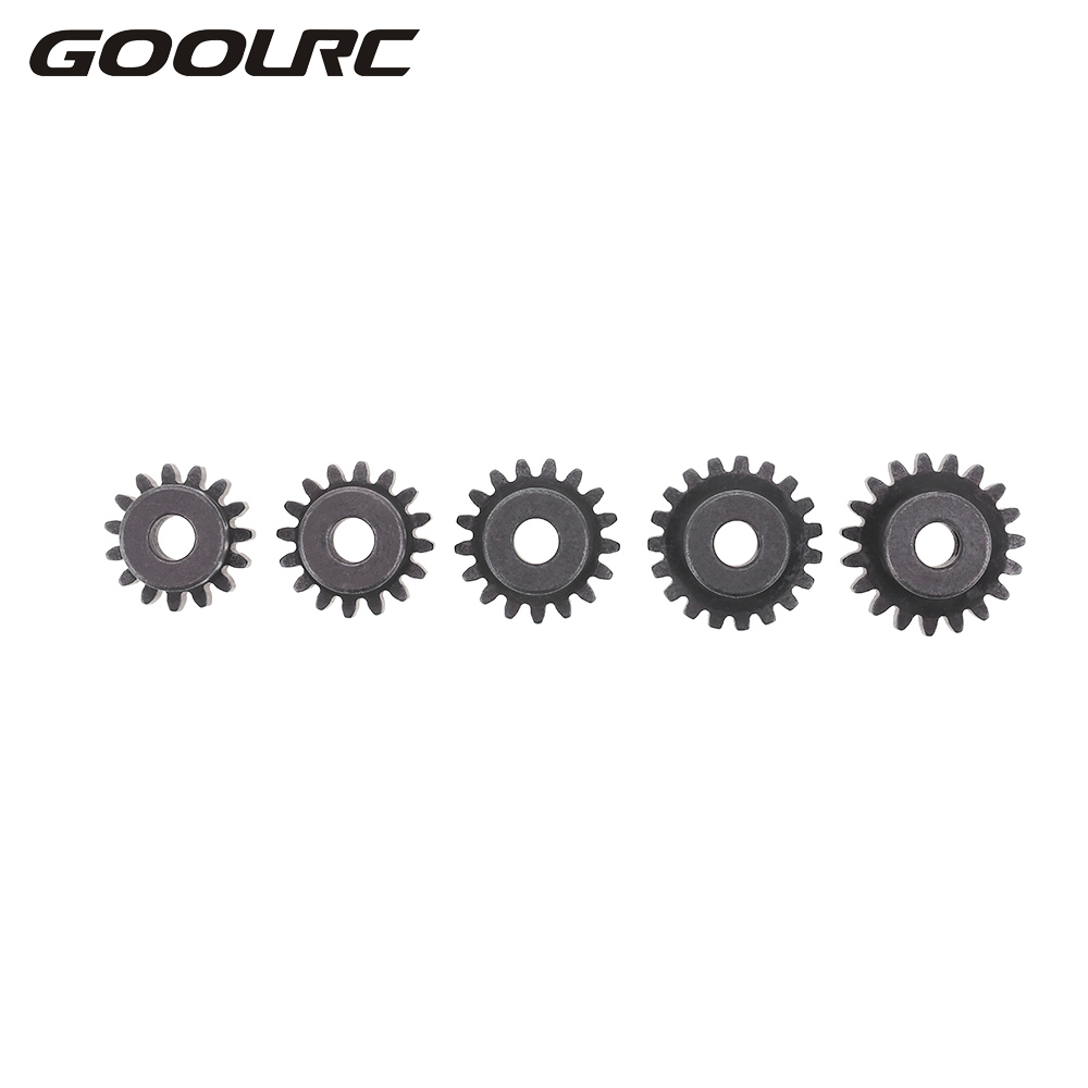 GOOLRC M1 5mm 15T 16T 17T 18T 19T Pinion Motor Gear Combo Set for 1/8 RC Car Brushed Brushless Motor DIY RC Vehicle Model Parts 60065 differential gear set for hsp rc 1 8 model car spare parts 94760 94761 94763