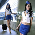 Sexy Costumes airline stewardess uniforms temptation live action role-playing lingerie female costume suit nightclub bar