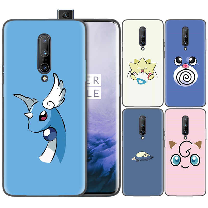 Business Pattern Phone Black Rubber Soft Silicone Case Bag Cover for 1+ Oneplus 6T Cases 6 7 Pro 5G Fundas Coque Cartoon Pocket