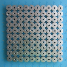 100 GAMMILL TIN LIZZIE QUILTER M LARGE ALUMINUM BOBBINS WITH HOLES # 18034AS 100PCS