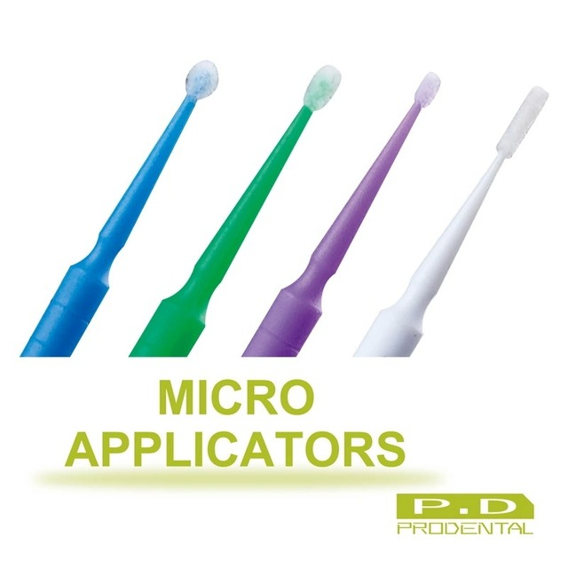 4 Bottlesx100pcs одноразовые микро-аппликатор Brushdental использовать одноразовые аппликатора / клей кисти / зубные щетки