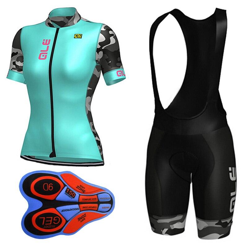 2017 Ale Велоспорт Джерси женщины велоспорт дышащая одежда набор велосипед трикотажные велосипедов носить Горы mtb одежда ropa ciclismo E1103