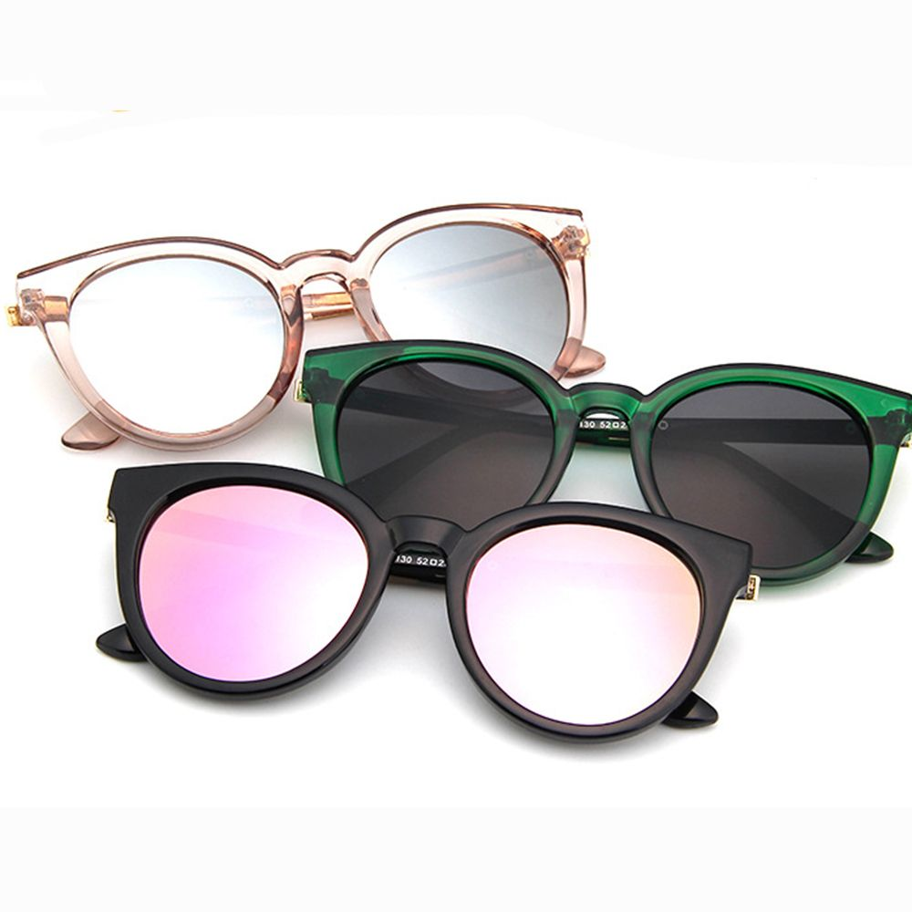 Fashion Cat Eye Sunglasses Women Sun Glasses Lens Alloy Sunglasses Female Eyewear Frame Driver Goggles Outdoor Car Accessories
