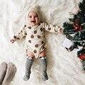 Corpo de Algodão Recém-nascidos Do Bebê 100% Algodão Bebê Bodysuit Outono Sleev Longo One Piece Bodysuit Infantil Roupas Da Menina do Menino de Pijama DS26
