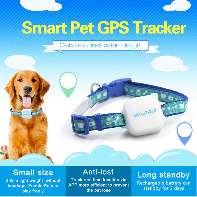 Smart Pet GPS Tracker Dog Cats Locator With Collar Rechargable Pets Mini GPS Rastre Trackers Device Accept Dropshipping