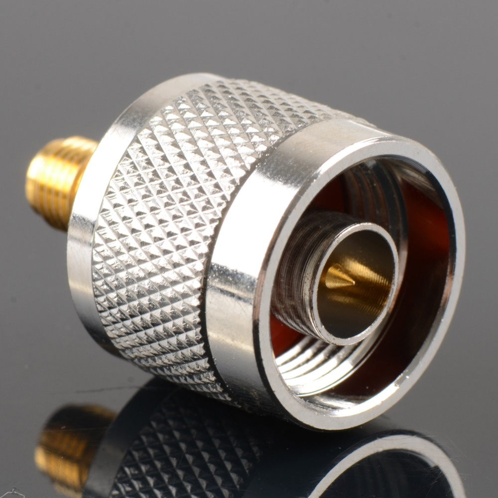 1pc Adapter N Plug Male Nickel Plating To SMA Female Gold Plating Jack RF Connector Straight VC720 P0.5 1pc adapter n plug male nickel plating to sma female gold plating jack rf connector straight vc720 p0 5