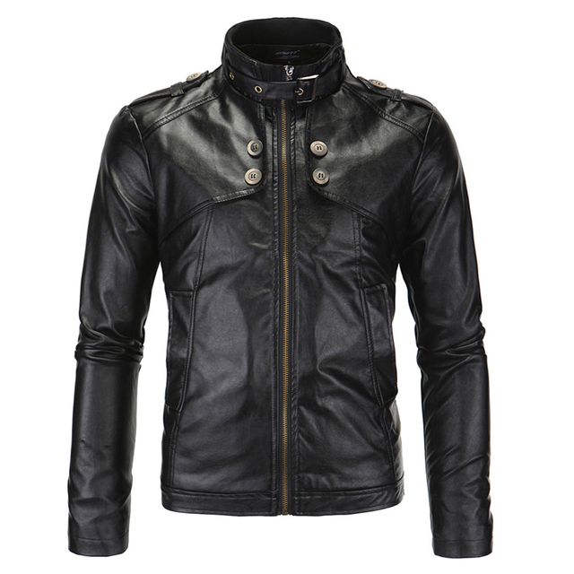 Plus Size 4XL Big and Tall Man Automotive Leather Jacket and Coats New Arrivals 2017 Men's Leather Jacket Branding Clothes S1881