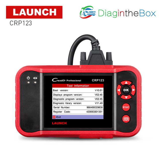 New Price LAUNCH CRP123 OBD2 Code Reader Auto Diagnostic Tool X431 CRP 123 OBD 2 Scanner ABS/SRS/GearBox/Engine free update Creader VII+