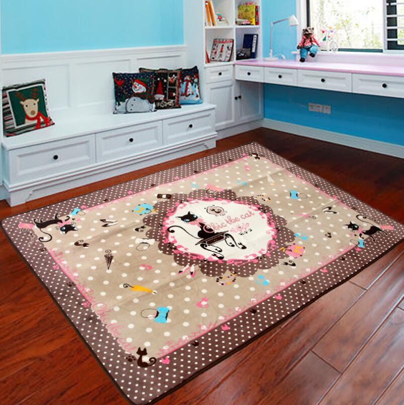 130185CM Cartoon Kids Room Carpet Anti Slip Mat Large For Living